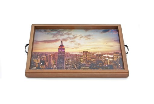 Custom Made Empire State Building New York Tray+Wall Art