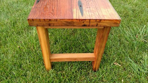 Custom Made Heinz Pickle Wood Bench
