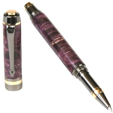Custom Made Lanier Elite Rollerball Pen - Purple Box Elder - Re7w14
