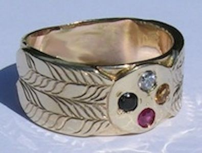 Custom Made Medicine Wheel Ring With 3mm Stones