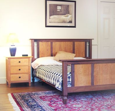 Custom Made Updated Shaker Style Bed And Chest Of Drawers