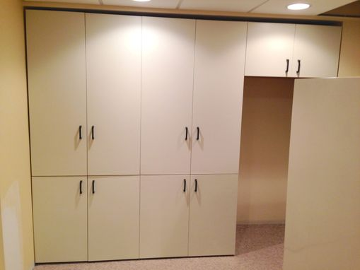 Custom Made Painted Storage Cabinets