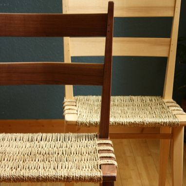 Custom Made Midcentury Modern Seagrass Chair