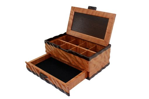 Custom Made Sculpted Men's Watch & Valet Box With Sliding Drawer