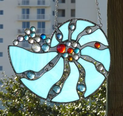 Custom Made Nautilus Shell Stained Glass