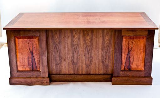 Custom Made Mesquite Executive Desk
