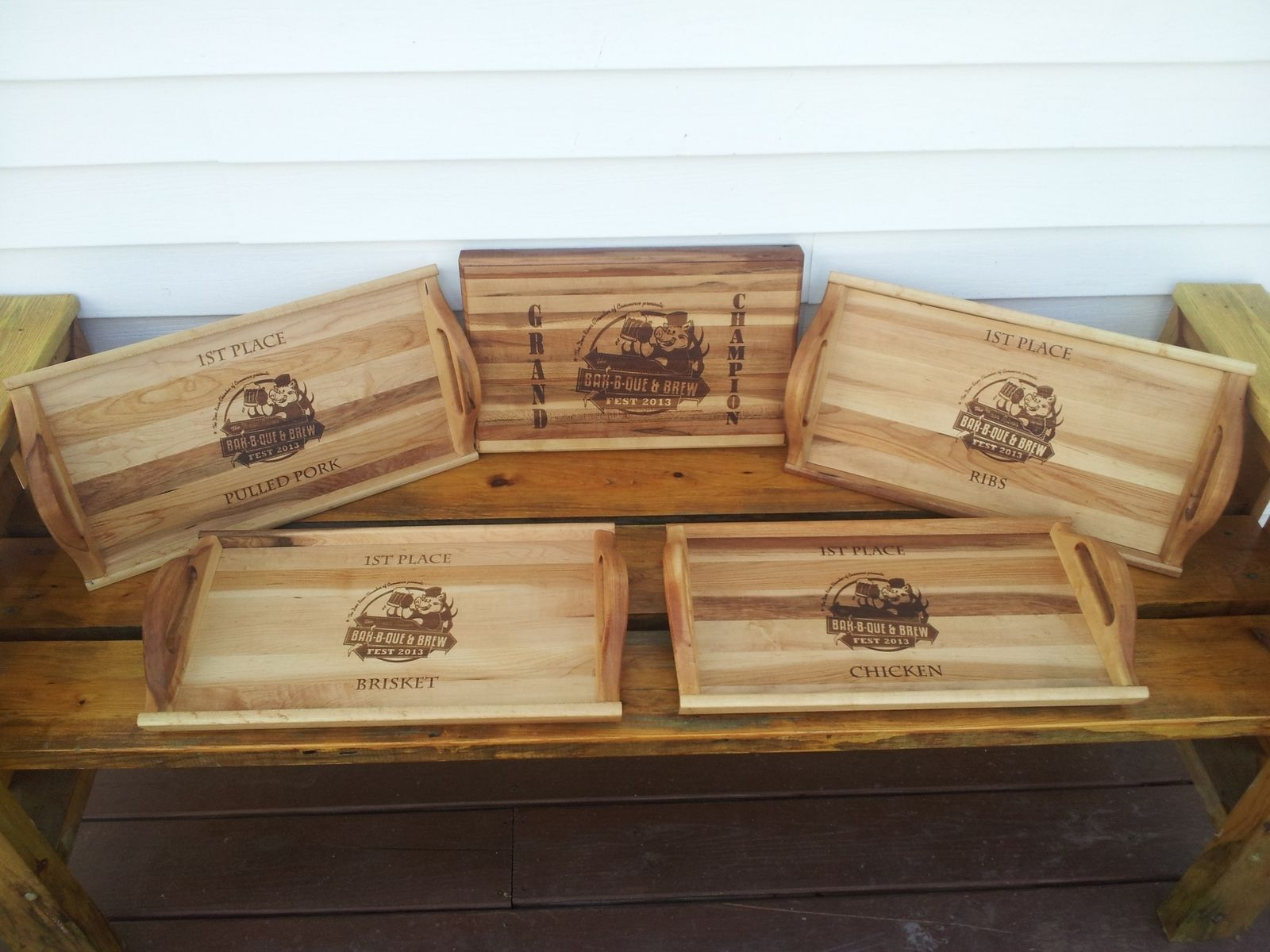hand made personalized cutting boards serving trays engraved with