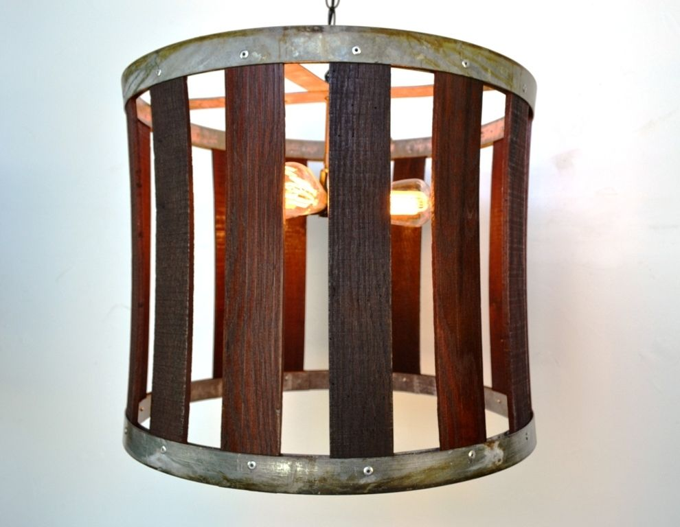 Buy a hand made craftsman drum barrel stave chandelier made to custom made craftsman drum barrel stave chandelier aloadofball Gallery