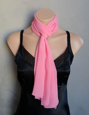 Custom Made Pink Chiffon Scarf