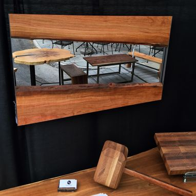 Custom Made Live Edge Wood Mirror
