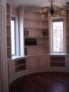 Custom Made Round Library Bookcases, Cabinets, And Trim