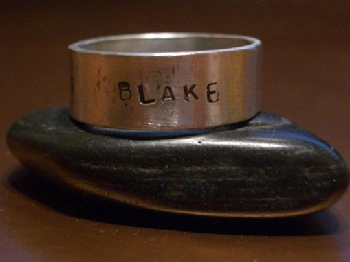 Custom Made Sterling Silver Wide Family Ring