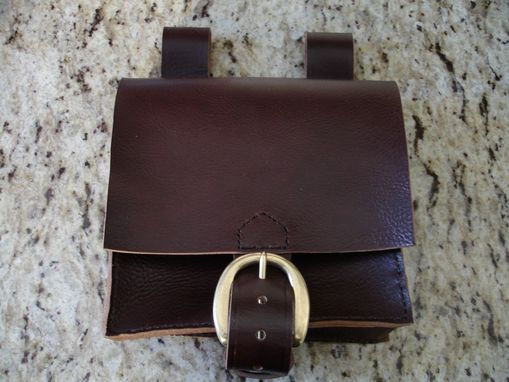 Custom Made Custom Black And Brown Wayfarer Pouch