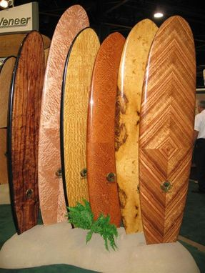 Custom Made Custom Wood Veneered Surf Boards