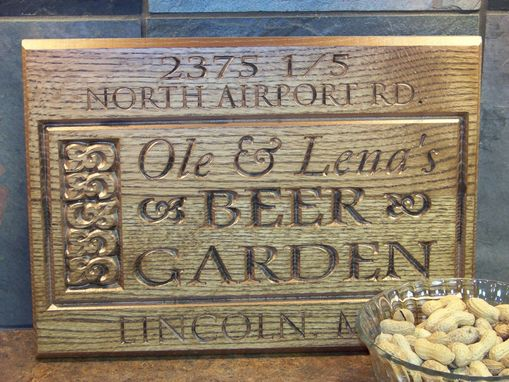 Custom Made Beer Garden Sign