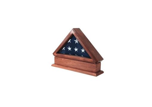Custom Made Flag Display Case, Pedestal For 3ft X 5ft Flag