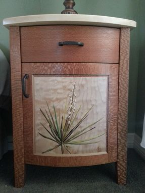 Custom Made Lacewood Bedside Cabinets