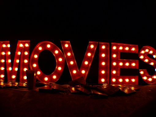 Custom Made Movies Theater Vintage Marquee Art Letter Bulb 2ft X 2ft  $400 Per Letter Or $2000 For Movies