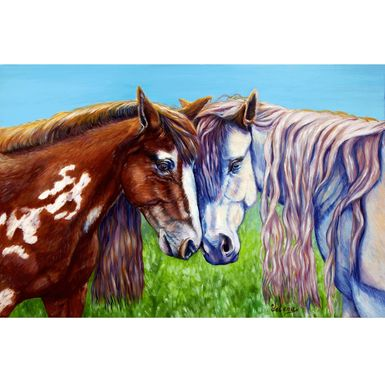 Custom Made Original Oil Painting On Canvas. Frolicking