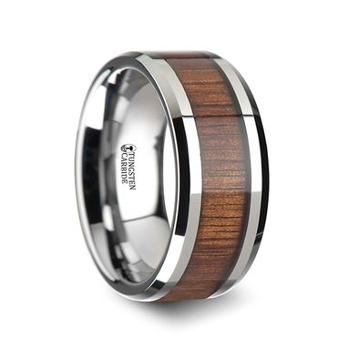 Custom Made Wood Tungsten Band