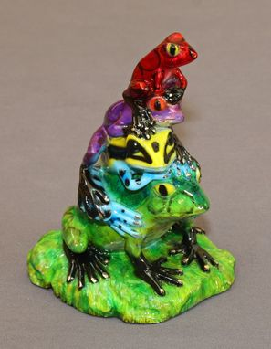 Custom Made Gorgeous Bronze Frog Figurine Statue Sculpture Limited Edition Signed Numbered
