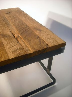 Custom Made Re-Claimed Oak Square Coffee Table