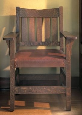 Custom Made V-Back Arm Chair