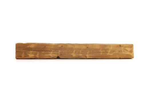 Custom Made Reclaimed Wood Fireplace Mantel - 54 Inch Rustic Hand Hewn (Storiedboards) #160018c