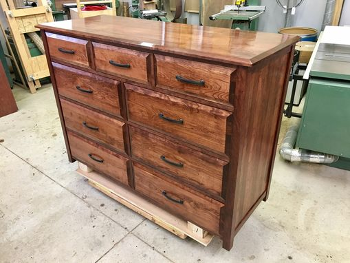 Custom Made Cherry Dresser, Tall Chest, Night Stands, & Headboard