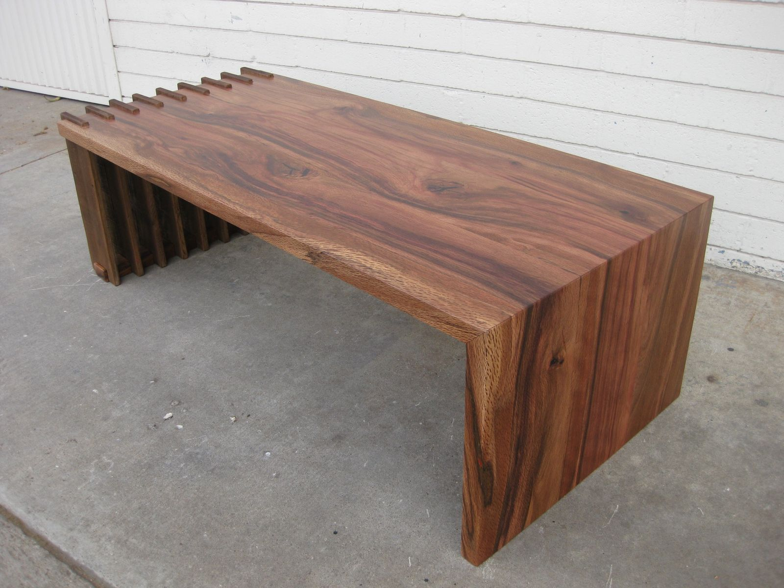 Custom Fenceboard Foldover Coffee Table by San Diego Urban Timber