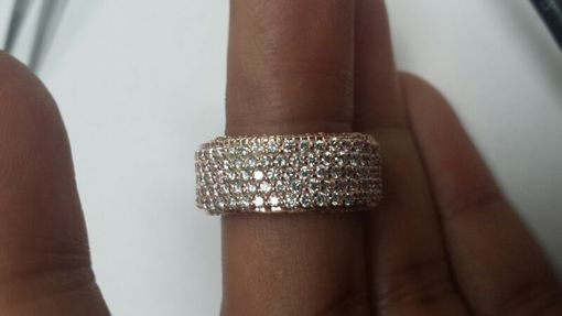 Custom Made Rose Gold Eternity Pave Diamond Band