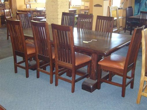 Custom Made 8 Seat Ironwood Dining Table Set