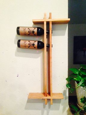 Custom Made Wall Hanging Wine Rack