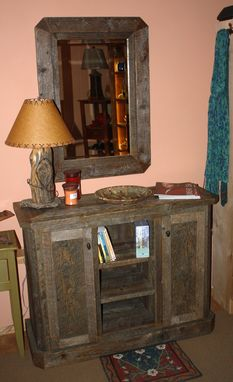 Custom Made Reclaimed Custom Lumber  Cabinet And Mirrors
