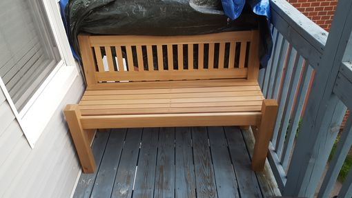 Custom Made Outdoor Bench - Custom Sizing