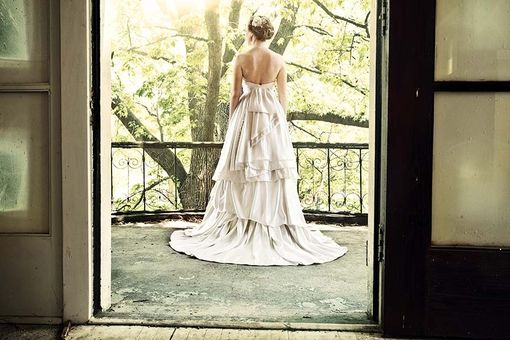 Custom Made Larkspur Eco Wedding Gown
