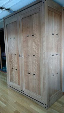 Custom Made Armoire - Mission Inspired Select Cherry W/ Wenge Accents.