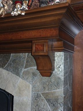 Custom Made Stone Fireplace And Mantel