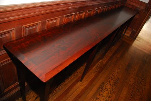 Custom Made Long Hallway Table In Solid Cherry