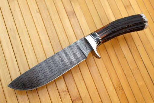 Custom Made Damascus Hunter