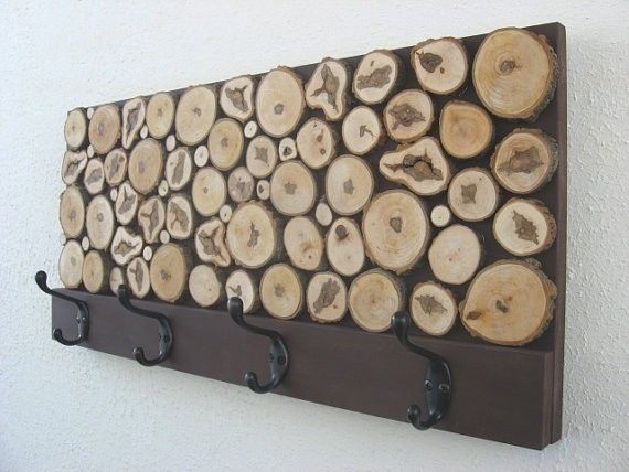 Hand Crafted Rustic Wood Coat Rack By Modern Rustic Art