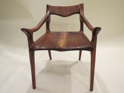 Custom Made Hardwood Low Back Chair