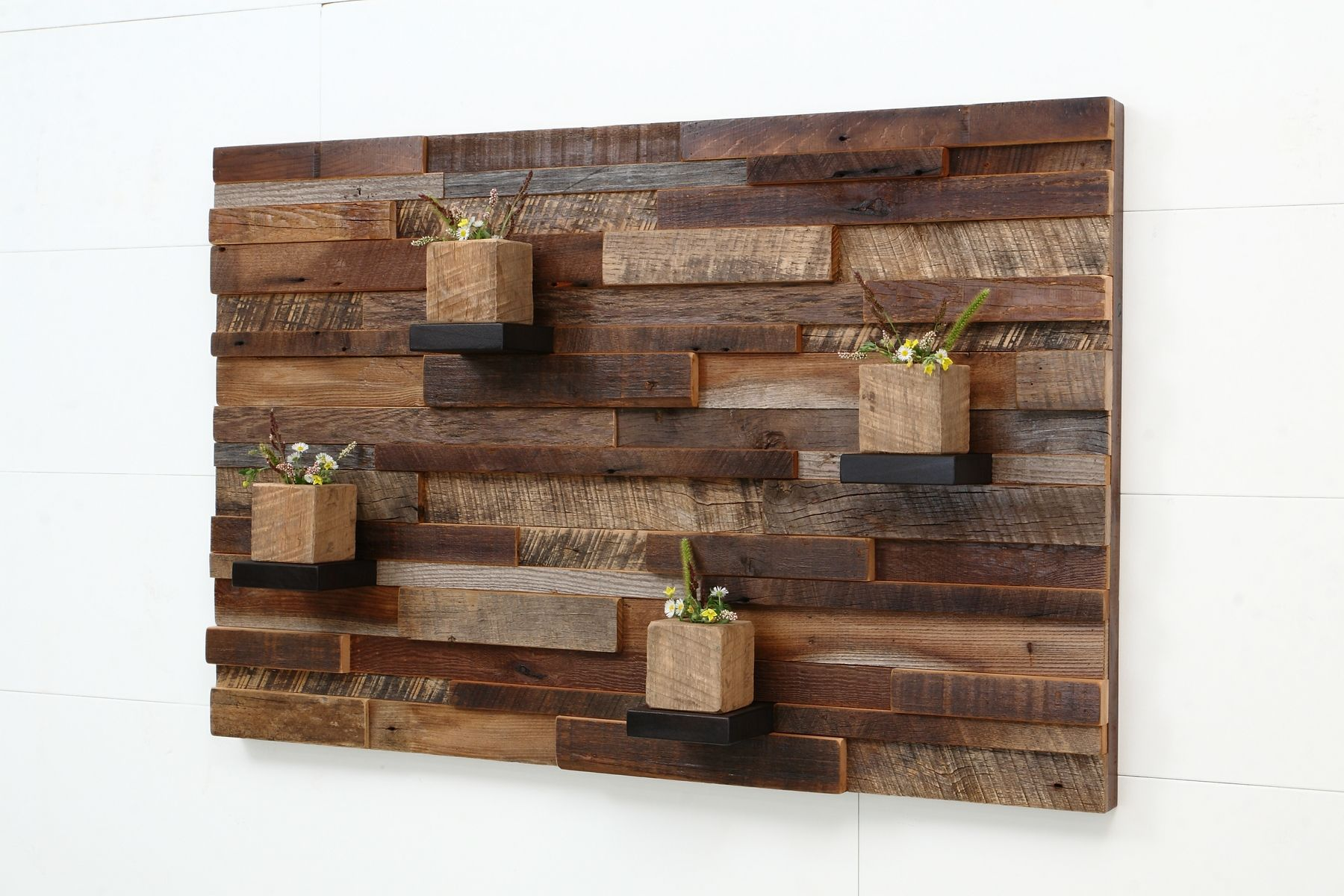 Hand crafted reclaimed wood wall art made of old barnwood Reclaimed woods
