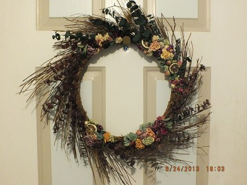 Custom Made Eucalyptus And Willow Spiral Wreath