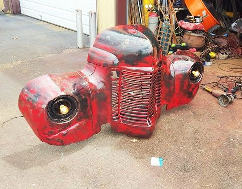 Custom Made Truck Grill Car Part Furniture - Wall Art Wallhanger By Raymond Guest