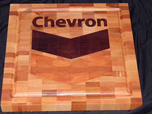 Custom Made Inlayed End Grain Cutting Board
