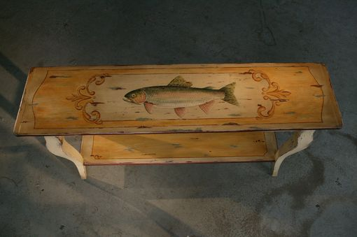 Custom Made Custom Painted Rustic  Sofa Table