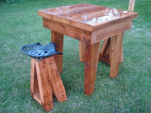 Custom Made Reclaimed Stool