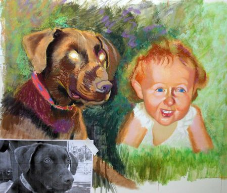 "Custom Made Pastel Portrait Of ""Smokey And Margaret"""