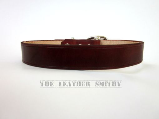 Custom Made Brown Leather Dog Collar 1 Inch Wide Handmade